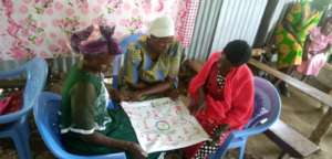 Women learning about the menstrual cycle