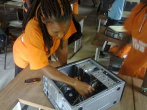 Boot Camp Girl Learning How to Fix Computer