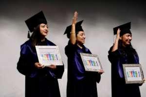 3 young women graduate 2019