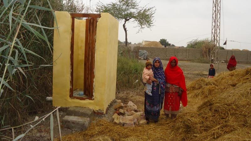 One toilet for one poor family in Pakistan
