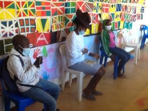 Kids & caregivers waiting for medical checkups
