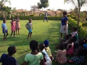 Outdoor dance class (pre-covid)