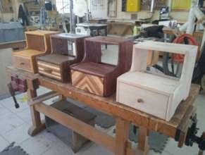 Students make stools at HHWT