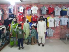 children purchased new clothes from branded shop