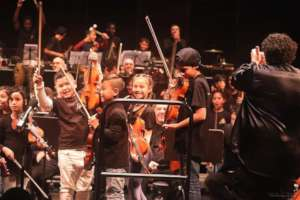 When we got to play with the CY Symphony Orchestra