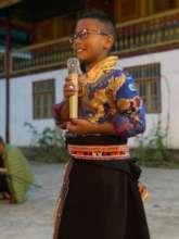 Child practicing storytelling