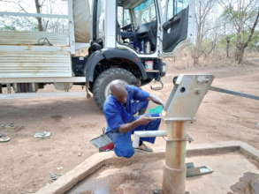 WFSS repairs broken well, Mbili healthcare center