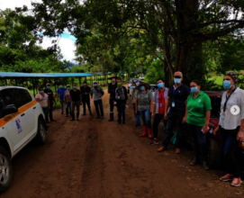 Volunteers after a Reforestation Day