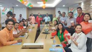 An Organ donation awareness session in an office