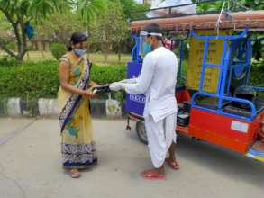 Providing meal to relative of patient at Hospital