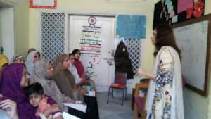 Trainings at our school in Pakistan
