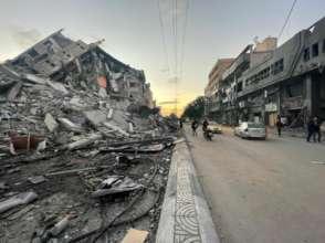 Destruction in Gaza following Israeli strikes