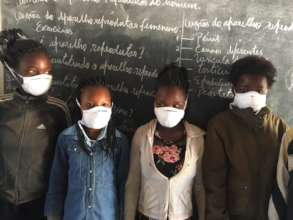 Students in the classroom at Chate Primary School.