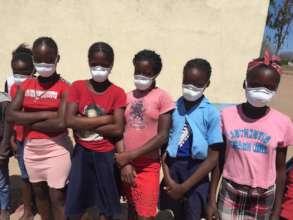 Seventh grade students at Bombofo Primary School