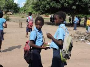 Girls from Bombofo village