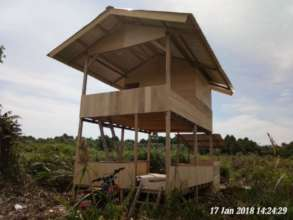 Finished cabin for staff and volunteers to sleep