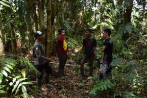 Training new team in the field Singkil