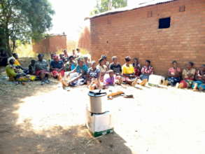 Training women on how to use the cookstove