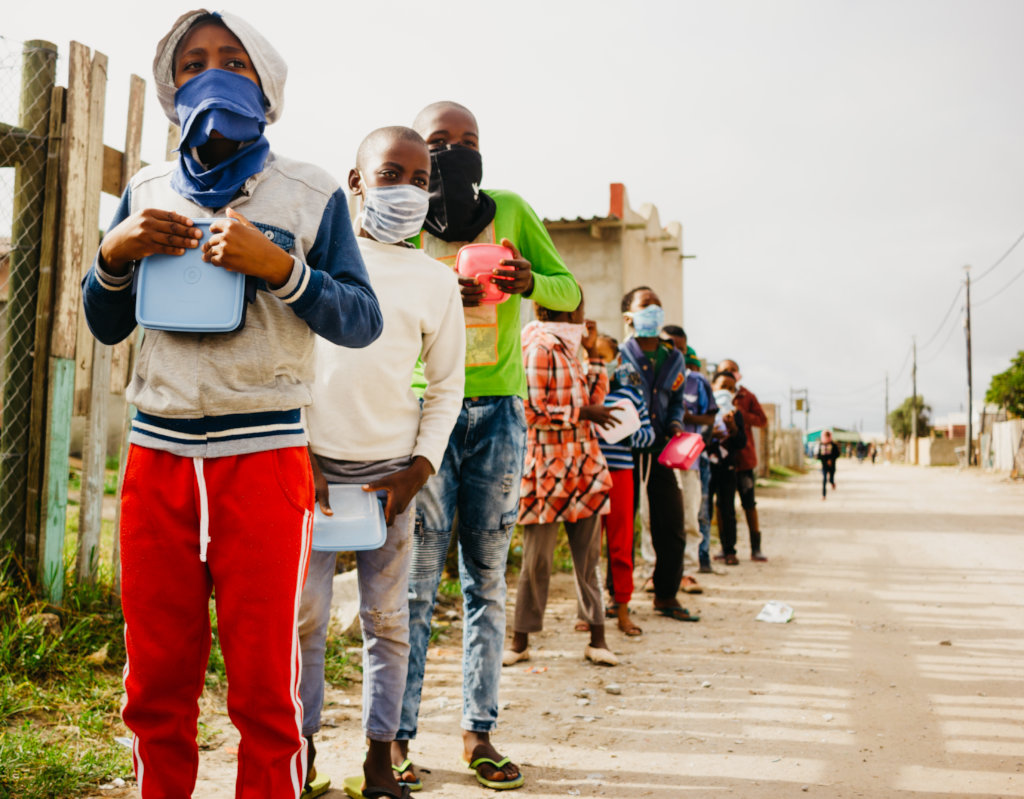 Feeding the needy amidst South African unrest
