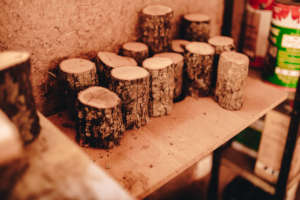 Drying wood offcuts