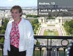 Andrea enjoying the view in Paris