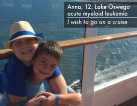 Anna and her brother enjoying the cruise