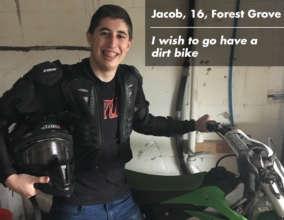 Jacob and his dirt bike