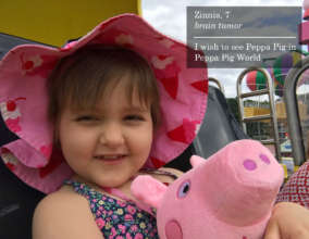 Zinnia at Peppa Pig World