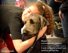 Megan and her service dog