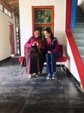 Achi, Asst. Director (l), & iana Weingrad (r)