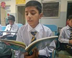 Ahsan participating in class