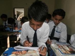 Usman at school