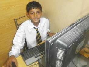 Ahsan: Preparing for his Matric exam