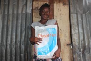 Bintu is grateful for her mosquito net