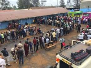 Kenyans waiting to vote on election day