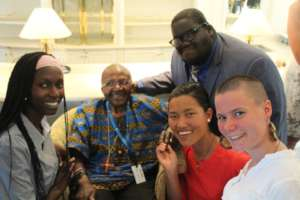 Maureen meets Archbishop Desmond Tutu