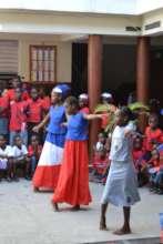 Flag Day celebration at Les Bons Samaritains