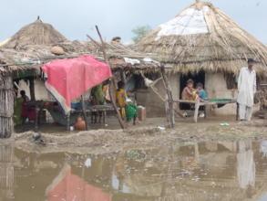 Rain hit village