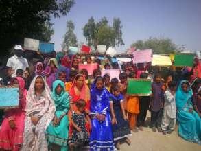Women group celebrating world water day
