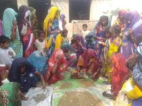 women busy in Nadi making