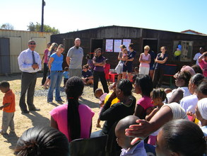 Community meeting at the opening
