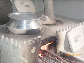 A Model stove in used