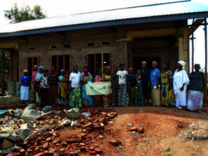 Mambasa Women's Group in front of office complex