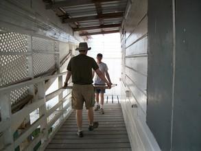 moving solar panels into safe storage (2)