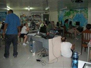 Computer learning lab powered mainly by solar