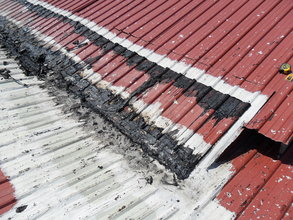 roofing section needing repair (BRE trip)