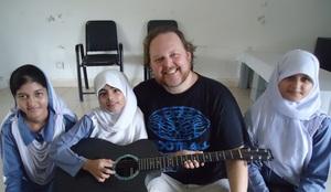 Todd with Fakhr-e-Imdad Foundation Schoolchildren
