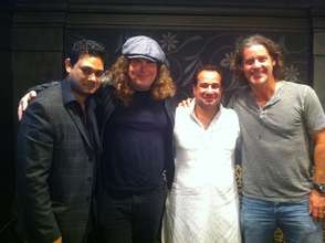 Maroof, Lanny, Rahat & Robbie backstage in May