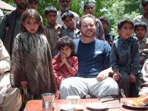 Todd Shea with Pakistani Children