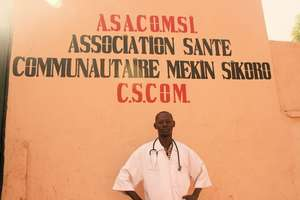 Community Health worker Abdoulaye at Clinic